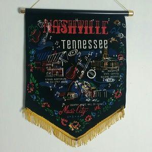 Vintage Velvet Nashville Wall Hanging
